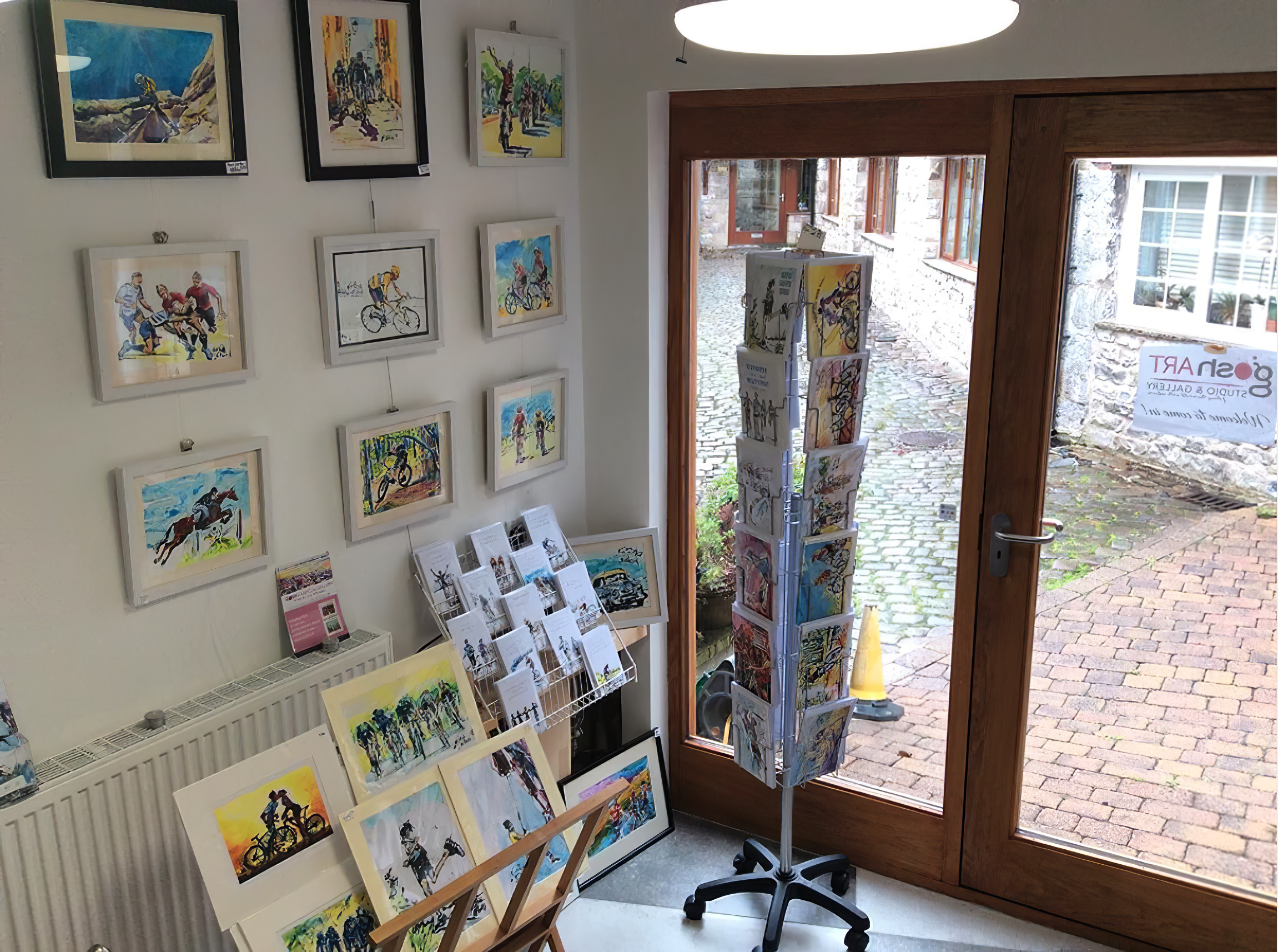 Visual Literacy Project Talks - The Art of Gosha Gibek capturing your passions with sports inspired paintings, Gosh Gallery in Clitheroe England